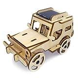 XW DIY Juguetes De Madera, Rompecabezas De Láser para Cortar Solar Modelo Jeep Rompecabezas, Madera 3D Rompecabezas Tridimensional, Adecuado para Niños Adolescentes Adultos Regalo