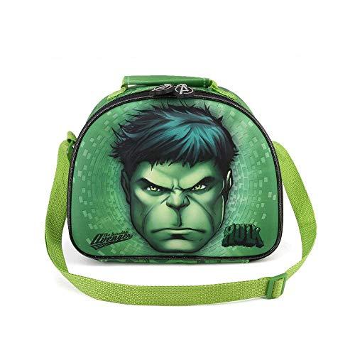 Karactermania Hulk Rage-3D Frühstückstasche Bolsa Escolar 26 Centimeters Verde (Green)