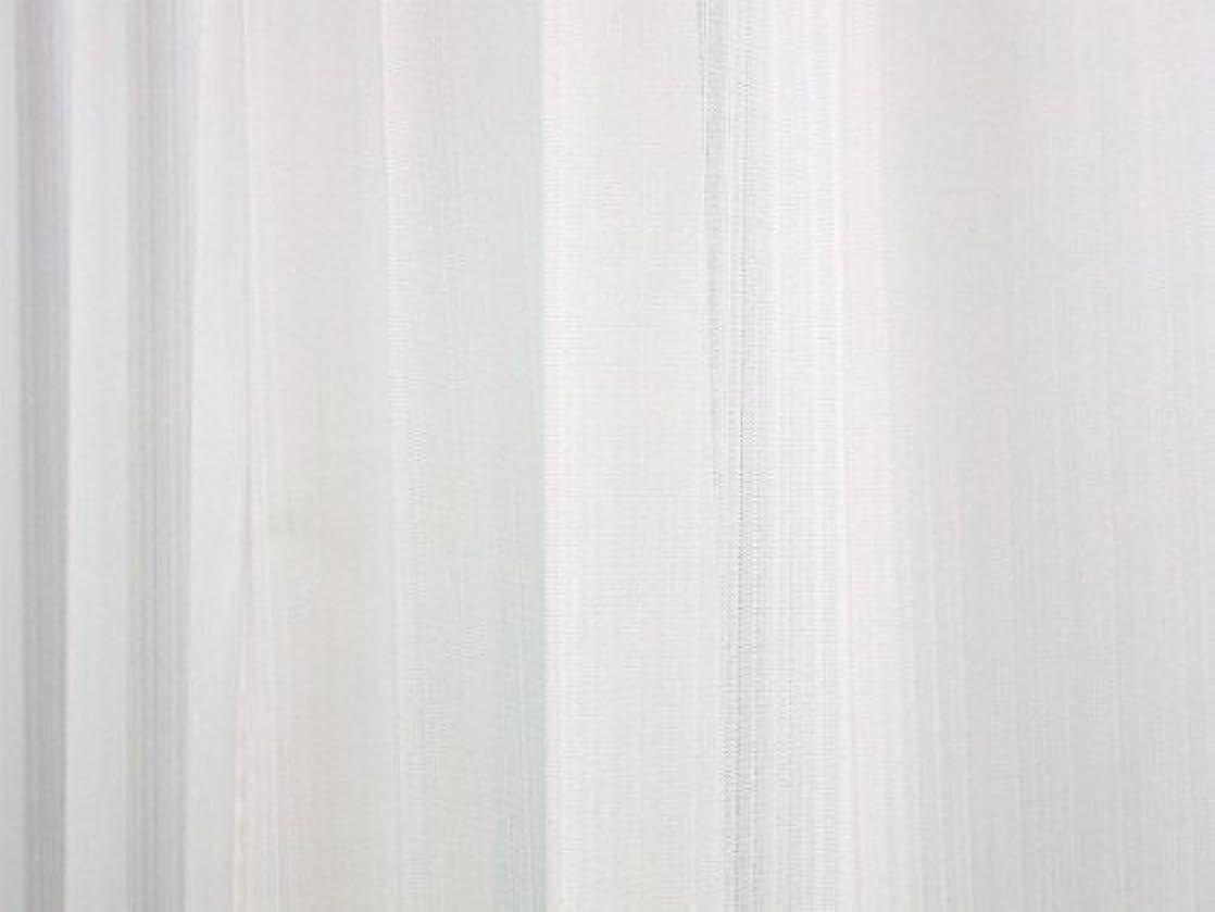 制限する辛なワゴン夜も透けにくいミラーレース 防炎 ミラーカーテン(ストライプ) 幅100cm×丈228cmの2枚組