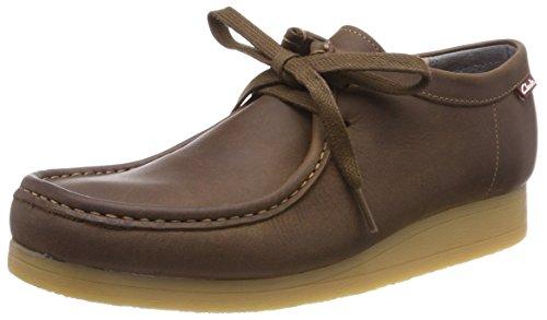 Clarks Stinson Lo, Zapatos de Cordones Derby para Hombre, Marrón (Beeswax Leather), 40 EU