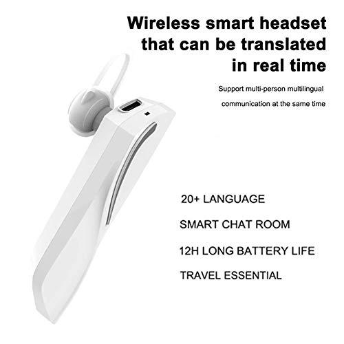 Dispositivo traductor de Idiomas Inteligente para Aprender reuniones de Compras itinerantes, audífonos de traducción multilingüe con Bluetooth, audífonos portátiles comerciales de 28 Idiomas