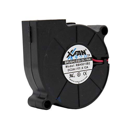 XINRUILIAN Ventilador 50 mm xx15 RBH5015B2 24 V DC 0,12 A 3 W Air Blower Fan soplador de centrifugado de empuje tangencial turbina 50 mm 5 cm 2 hilos (+/-) refrigeración
