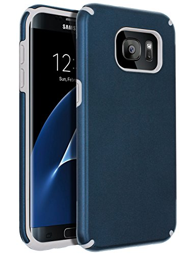 SENON Samsung Galaxy S7 Edge Case,Galaxy S7 Edge Case, Slim-fit Shockproof Anti-Scratch Anti-Fingerprint Protective Case Cover for Samsung Galaxy S7 Edge,Navy