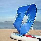 Faltbare Kajak Downwind Segel, Paddle Board Segel Sup Paddle Board Instant Popup & Easy Setup & schnell bereitstellt, Wind Sail, Kajak Kanu Zubehör(Blau)