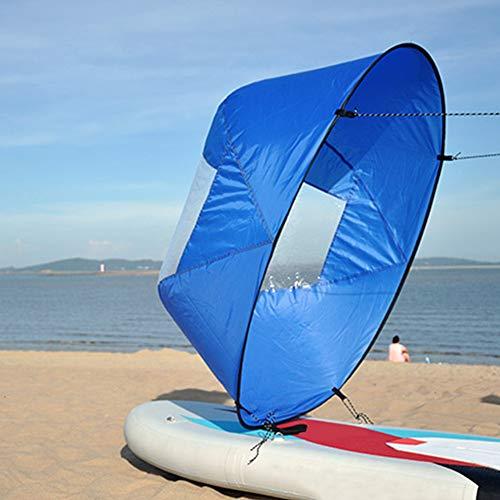 Vela de viento, vela de viento plegable, vela de kayak, resistente y segura, para kayak, barco, vela, canoa, tabla de remo, vela, ultraligera, portátil ⭐