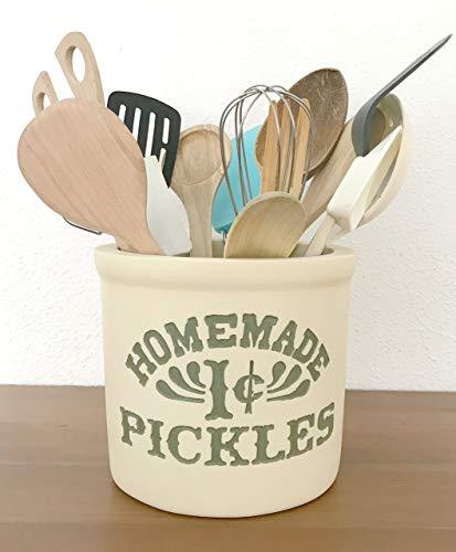Cocina de Mónica. Bote para utensilios 100% Handmade. Homemade 1 cent Pickles.