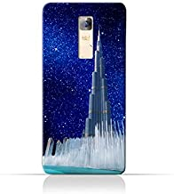 Infinix Note 3 X601TPU Silicone Protective Case with Burj Khalifa and Water Fountain on a Starry Night Design
