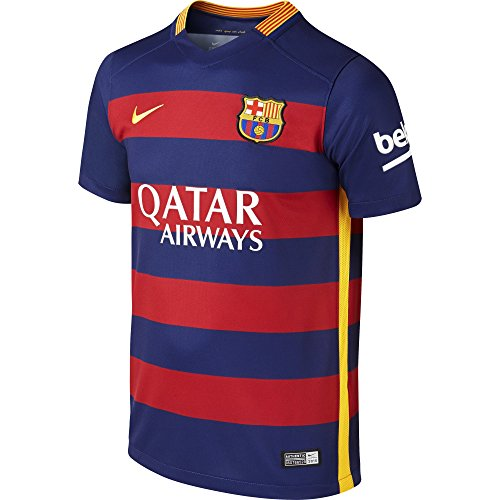 Nike Kids Barcelona 2015/2016 Home Soccer Jersey (Blue, Red) Youth Small