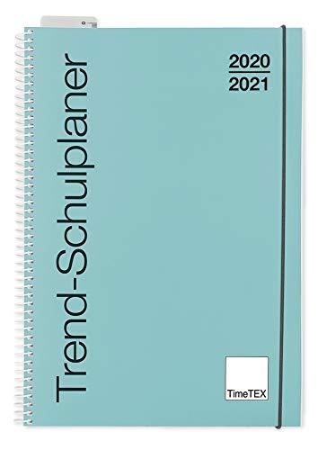 TimeTEX Trend-Schulplaner A4 Lagune - Ringbuch - Schuljahr 2020-2021 - Lehrerkalender - Unterrichtsplaner - TimeTEX 10581