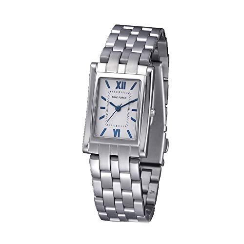 Time Force Reloj Analógico para Mujer de Cuarzo con Correa en Acero Inoxidable TF4044L03M