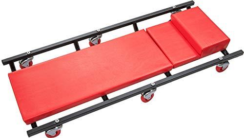 Start Camilla para mecánico 100kg con reposacabezas Mantenimiento Ed emergencia coche