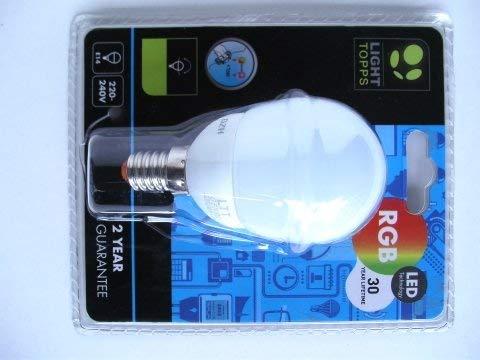 Bombilla LED E14 Mini Globo Cambio Color RGB 0.5W Cristal Opalo Jedi LT01499