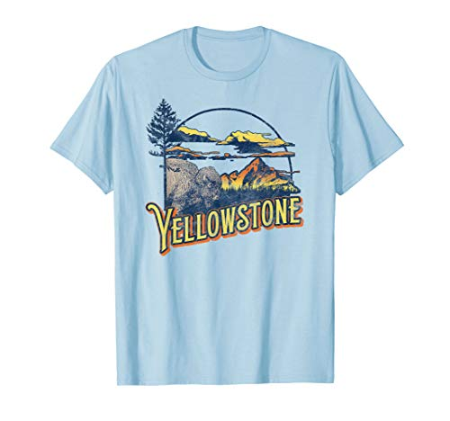 Vintage Yellowstone National Park Retro 80's Style Graphic T-Shirt