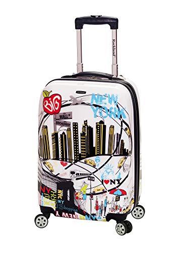Rockland Departure Hardside Spinner Wheel Luggage Set, New York