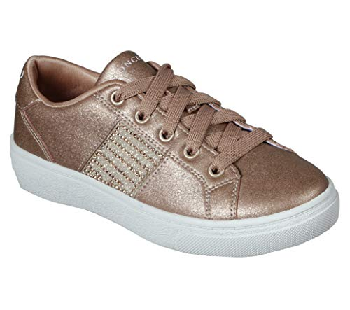 Concept 3 by Skechers Girls' Sheen & Luster Lace-up Sneaker, Rose Gold, 11.5 Medium US Little Kid