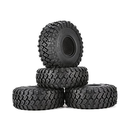 UJETML (H) Neumáticos RC Crawler -7020 4pcs 1.9 Pulgadas 122 mm 1/10 neumáticos de rastreo de Roca para D90 TRX4 SCX10 TF2 RC Accesorios para automóviles Neumáticos RC Slash 4x4 Neumáticos