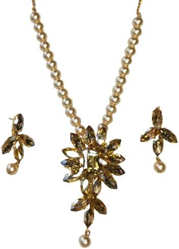 NEW INDIA JEWELLERY South indian Ethnic Bridal Bollywood Fashion Traditional Necklace Set Pendant Fashion