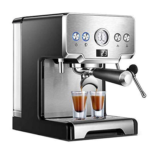 ZJYB Espresso Siebträgermaschine,Kaffeemaschinen Frisch gemahlen,Halbautomatisch Kaffeevollautomat,Edelstahl Mahlwerke,für Espresso Cappuccino Latte