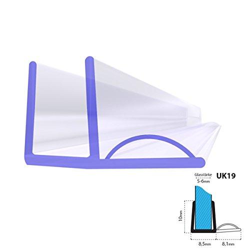 UK06 80cm Joint d/étanch/éit/é de rechange pour verre de douche d/épaisseur 3,5mm// 4mm// 5mm protection surtensions de cabine de douche