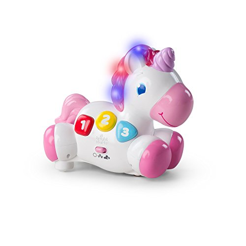 Bright Starts Rock & Glow Unicorn Toy with Lights and Melodies, Ages 6 months +