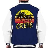 Cloud City 7 Crete Vintage Sun Men's Varsity Jacket