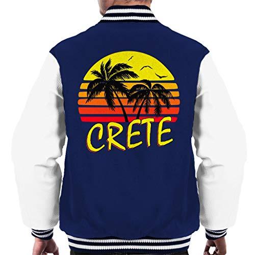 Cloud City 7 Crete Vintage Sun Men\'s Varsity Jacket