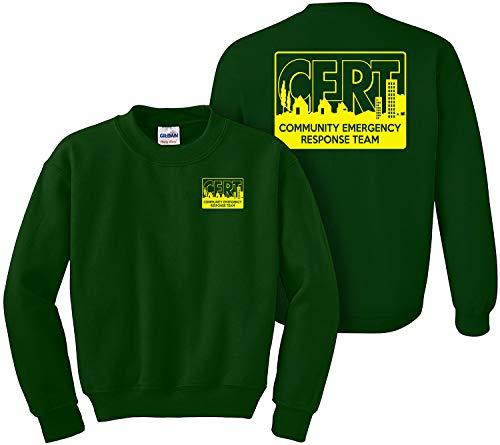 CERT Sweatshirt, Community Emergency Response Team, Preparedness, Safety, Rescue Green