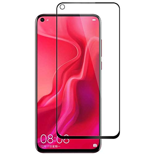 J&H [Pacote com 3] Película de vidro temperado para Huawei Nova 4 – Protetor de tela transparente com cobertura total para Huawei Nova 4 (preto)