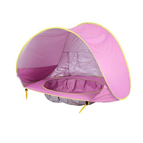 Newin Star Baby-Strand-Zelt mit Einbau-Pool Automatische Folding Baby Pool mit UV-Schutz Sonnenschutz für Beach Garden Park House Rosa