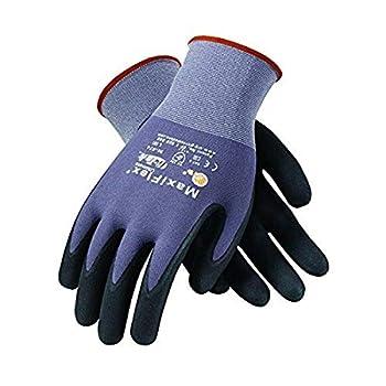 PIP 34-874/XXXL Maxi Flex Ultimate 34874 Foam Nitrile Palm Coated Gloves 11 Gray 3XL  Pack of 12