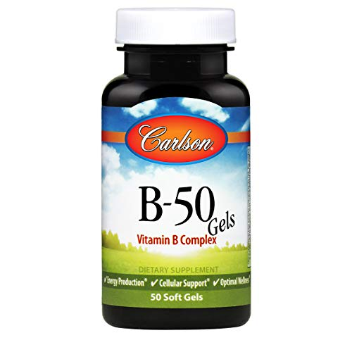 Carlson Labs B-50 Gels, 50 softgels