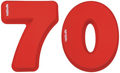 HotShuffle Grand Nombre de Silicone 70 Moule à gâteau Moule 70e Anniversaire Anniversaire de Mariage 7 0