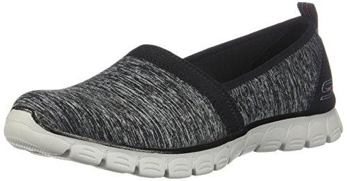 Skechers Ez Flex 3.0-Swift Motion, Zapatillas sin Cordones para Mujer, Multicolor (Black/Grey Bkgy), 38 EU