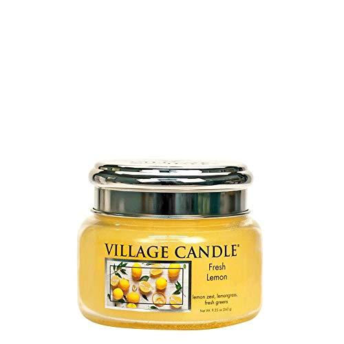 Village Candle Fresh Lemon - Vela perfumada en tarro de cristal (325 ml)
