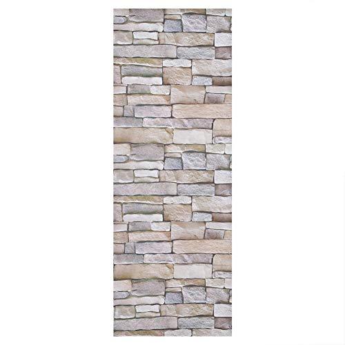Papel pintado de cáscara de piedra, pegatina de pared autoadhesiva de estilo ladrillo impermeable, papel de pared de aspecto de pared de piedra con textura 3D para sala de estar, fondo