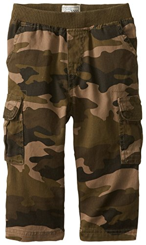 The Children's Place Little Boys and Toddler Pull-On Cargo Pant, Olive Camo, 4T