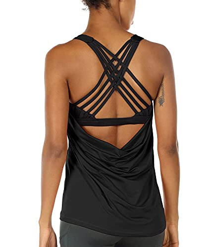 icyzone Yoga Tops Workouts Clothes Activewear...