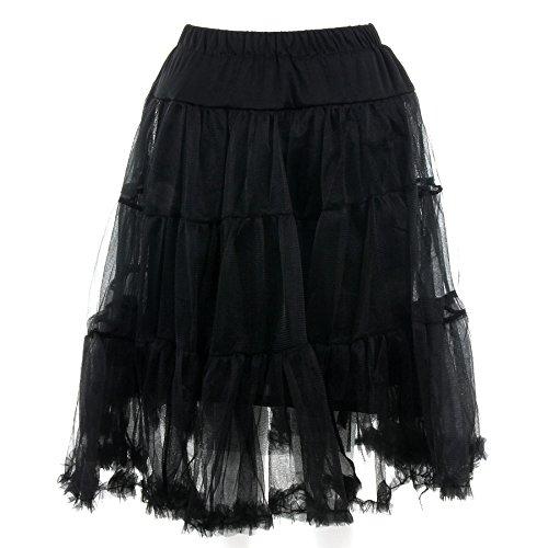 Banned Langer Petticoat (Schwarz) – Small - 2