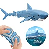 [New] RESRIX Remote Control Boat, High Simulated RC Shark for Kids Toys, 2.4G 4 Channel Remote Control Fish, Great Gift for 6+ Year Old Boys and Girls