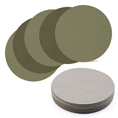 25 unidades de papel de lija de 125 mm, redonda, para lijadora en seco, grano 3000/4000/5000/7000/10000