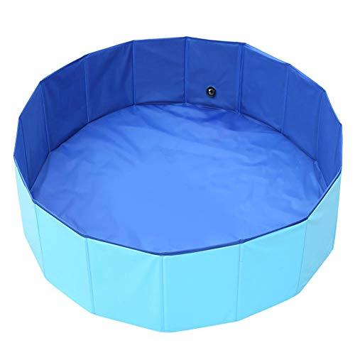 ABEQW Piscina Hinchable Piscina de Bolas para niños, Piscina para Perros, bañera, Piscina para niños Plegable, Adecuada para Mascotas, niños-Azul_El 100 * 30cm