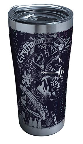 Tervis 1295914 Harry Potter-20Th Anniversary Insulated Tumbler with Hammer Lid, 20 oz Stainless Steel, Silver