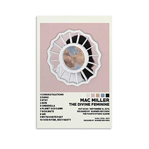 XIAOGEGE Mac Miller The Divine Feminine Rapper Music 1 Wall Art Poster Gifts Bedroom Prints Home Decor Hanging Picture Canvas Painting Posters 16x24inch(40x60cm)