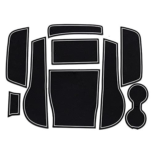 0beilita Tappetino Antiscivolo Auto per Audi A3 8V 2013-2019 S3 RS3 Accessori Interni Per Il Portabicchieri Della Console Centrale, bianca