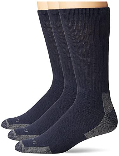 Carhartt All Season Cotton Crew Work Sock (3-Pair) Calcetines, Navy, M para Hombre