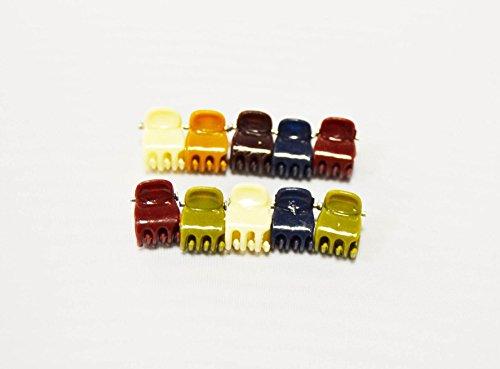 Pack de 30 Pinces Mini 1 cm en couleurs assorties. Expédition gratuite 72H
