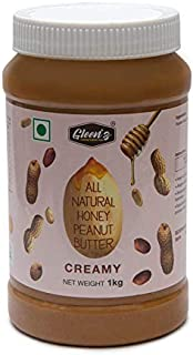 Gleenâ  z Peanut Butter All Natural Honey Peanut Butter Creamy (Gluten Free/Non-GMO) Jar, 1 KG