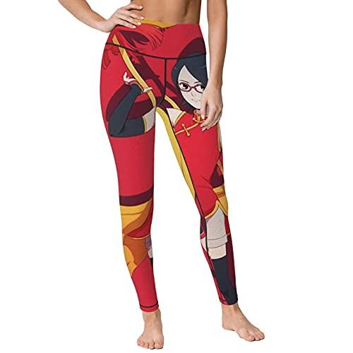 Gintamade Pantalones de yoga de cintura alta Uchiha Sarada Entrenamiento Stretch Yoga Leggings