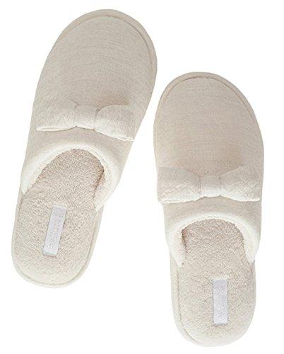 CYSTYLE Fliege Pantoffeln,Damen Mädchen Fleece Warme Hausschuhe Winterschuhe Warme Herbst Winter Flip Flops Slipper (38-39/For EU 37-EU 38)