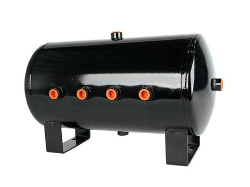 HornBlasters 5 Gallon 8 Port Black Steel Air Tank